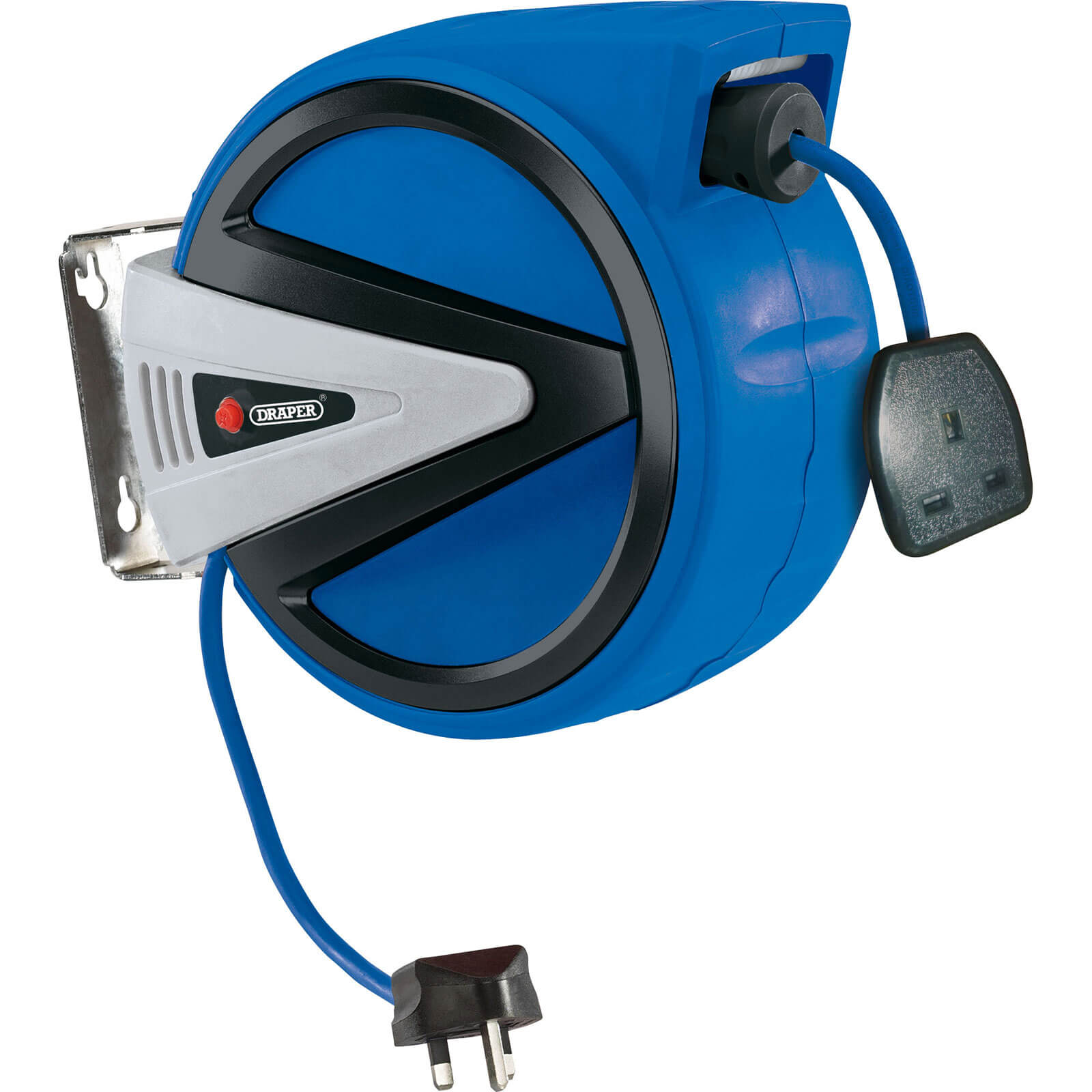 Image of Draper Retractable Extension Lead Cable Reel 10m