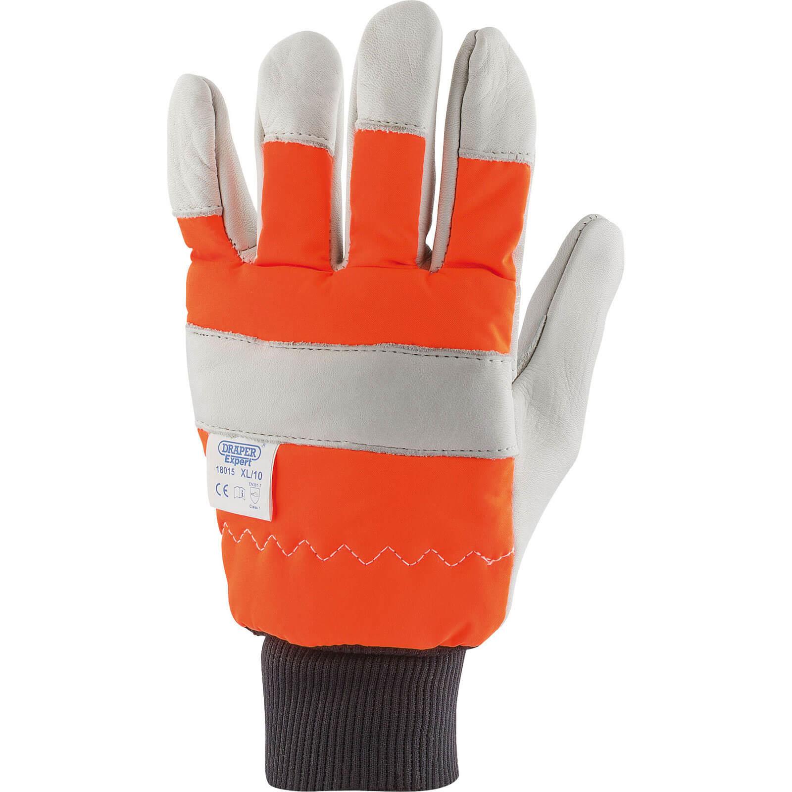 Image of Draper Chainsaw Gloves L