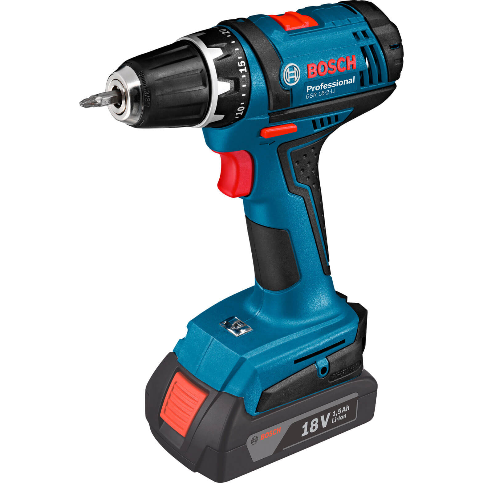 zzz bosch gsr 18 2 li 18v cordless drill driver. Black Bedroom Furniture Sets. Home Design Ideas