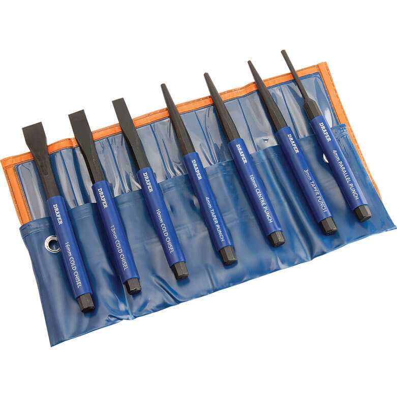 Image of Draper 7 Piece Cold Chisel & Punch Set