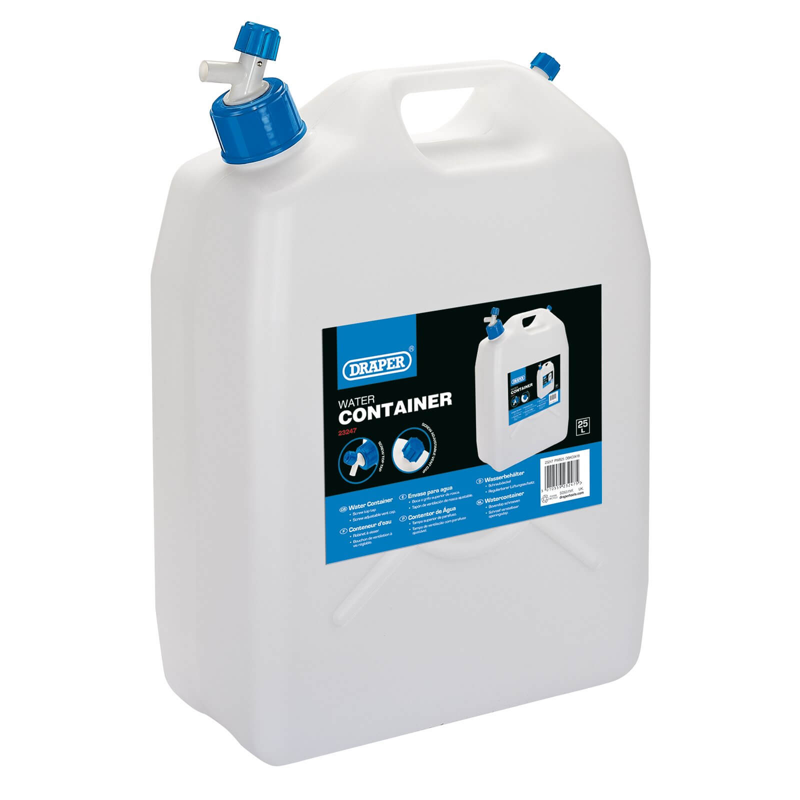 Image of Draper Water Container 25l