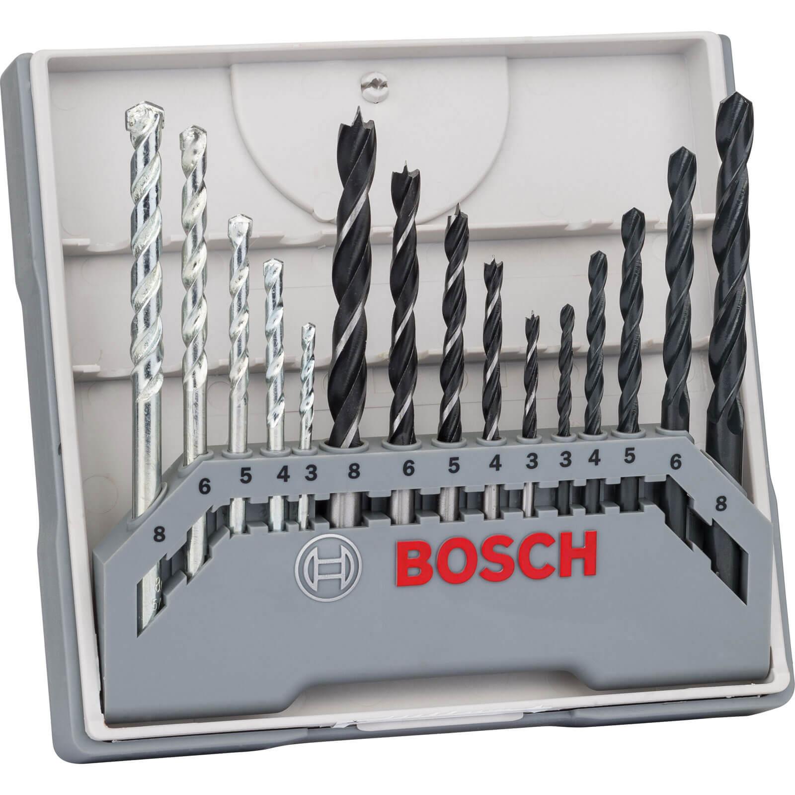 Image of Bosch 15 Piece Mixed Drill Bit Set