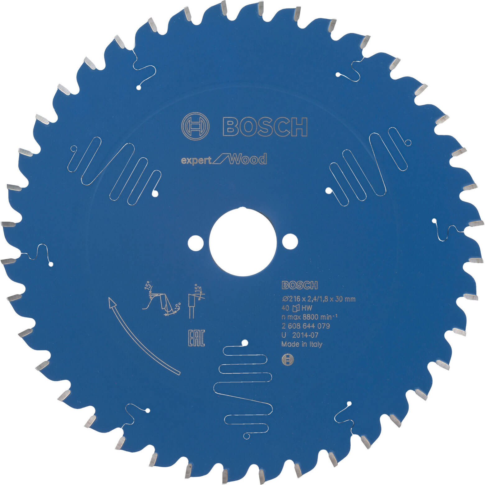 Bosch Expert Wood Cutting Mitre Saw Blade 216mm 40T 30mm