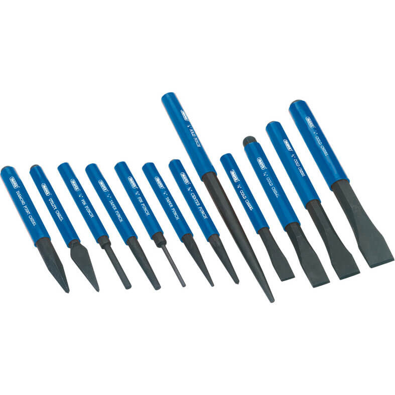 Image of Draper 12 Piece Cold Chisel & Punch Set