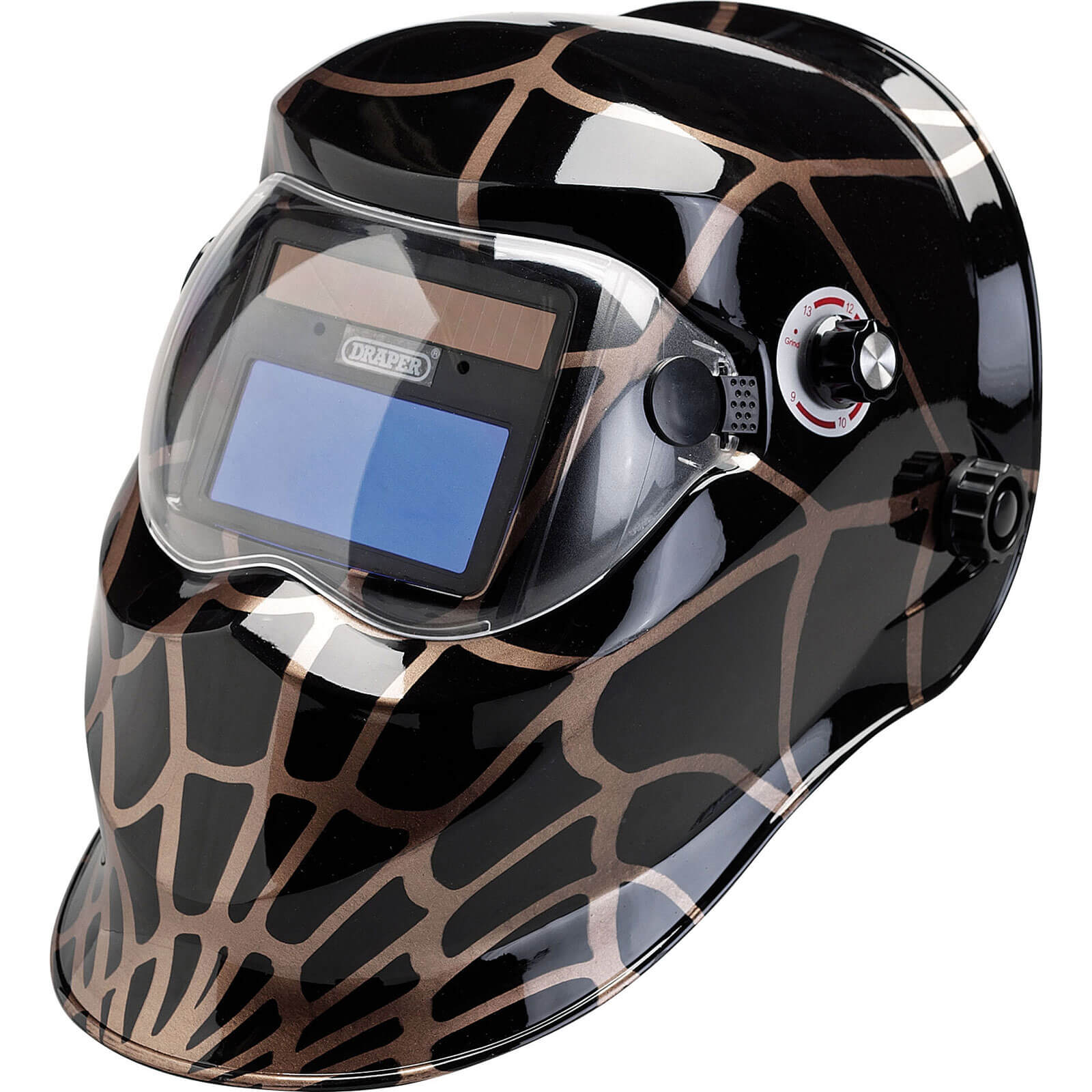 Draper Solar Auto Dimming Vario Shade Welding Helmet Black  Gold
