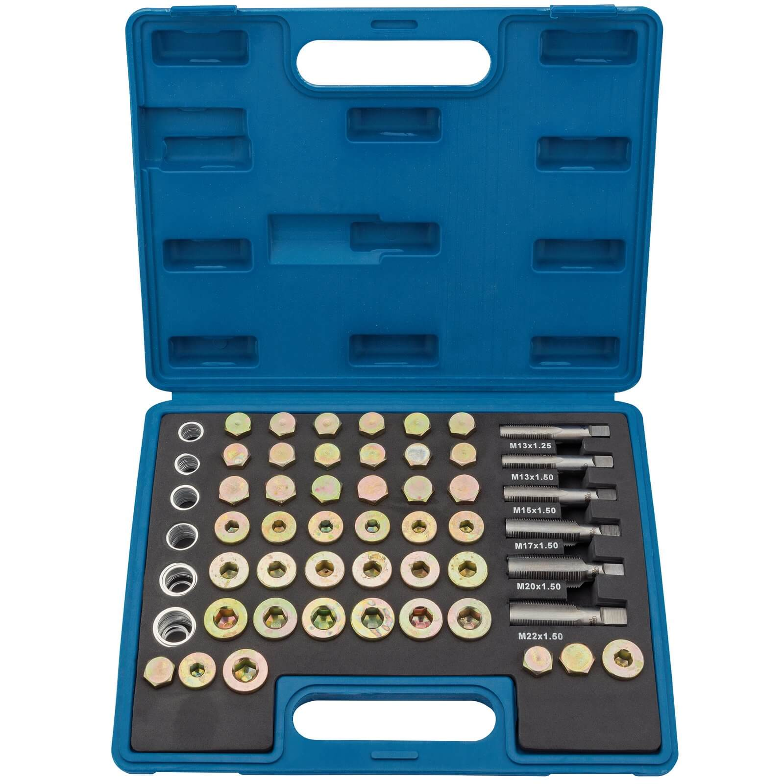 Image of Draper Expert 120 Piece Oil Sump Plug Repair Kit