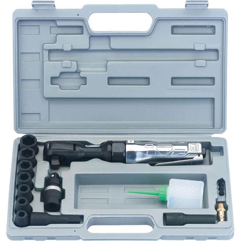 "Image of Draper 4295BK 15 Piece 1/2"" Drive Reversible Air Ratchet Kit"