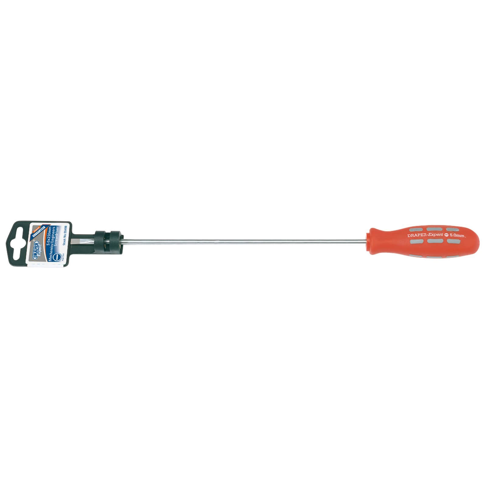 Click to view product details and reviews for Draper Expert Mechanics Soft Grip Parallel Slotted Screwdriver 5mm 250mm.