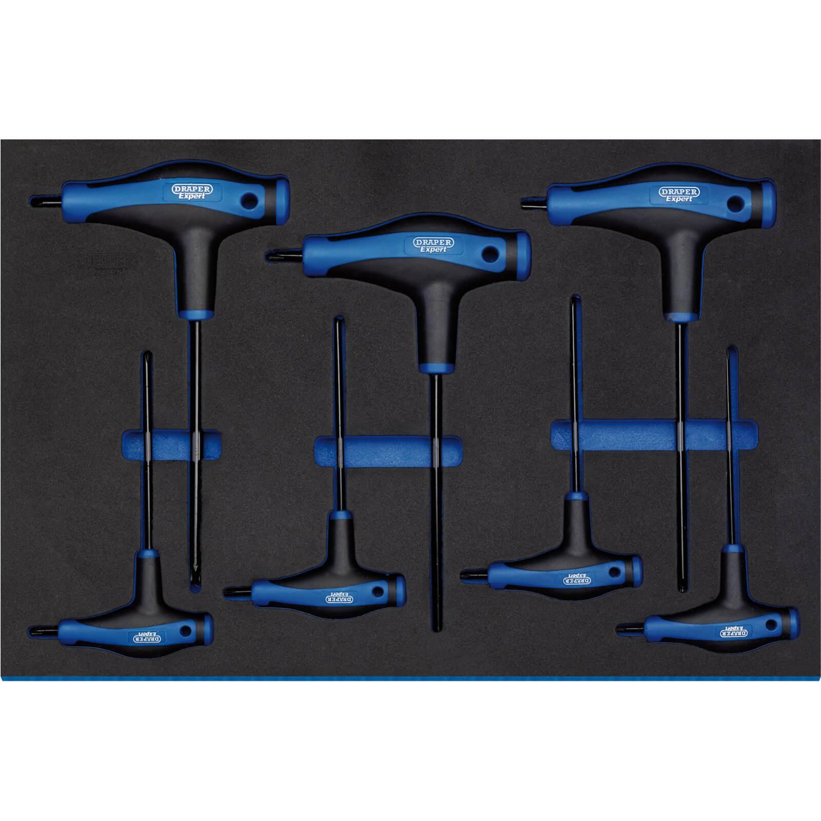 Image of Draper 7 Piece T Handle Tx-Star Key Set In Eva Insert Tray