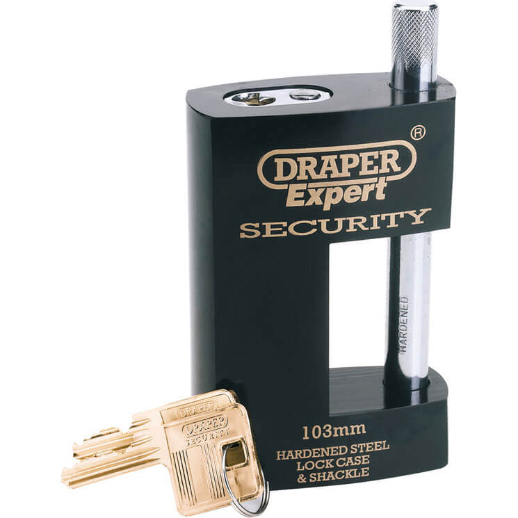 Image of Draper Expert Heavy Duty Padlock Closed Shackle 103mm Standard