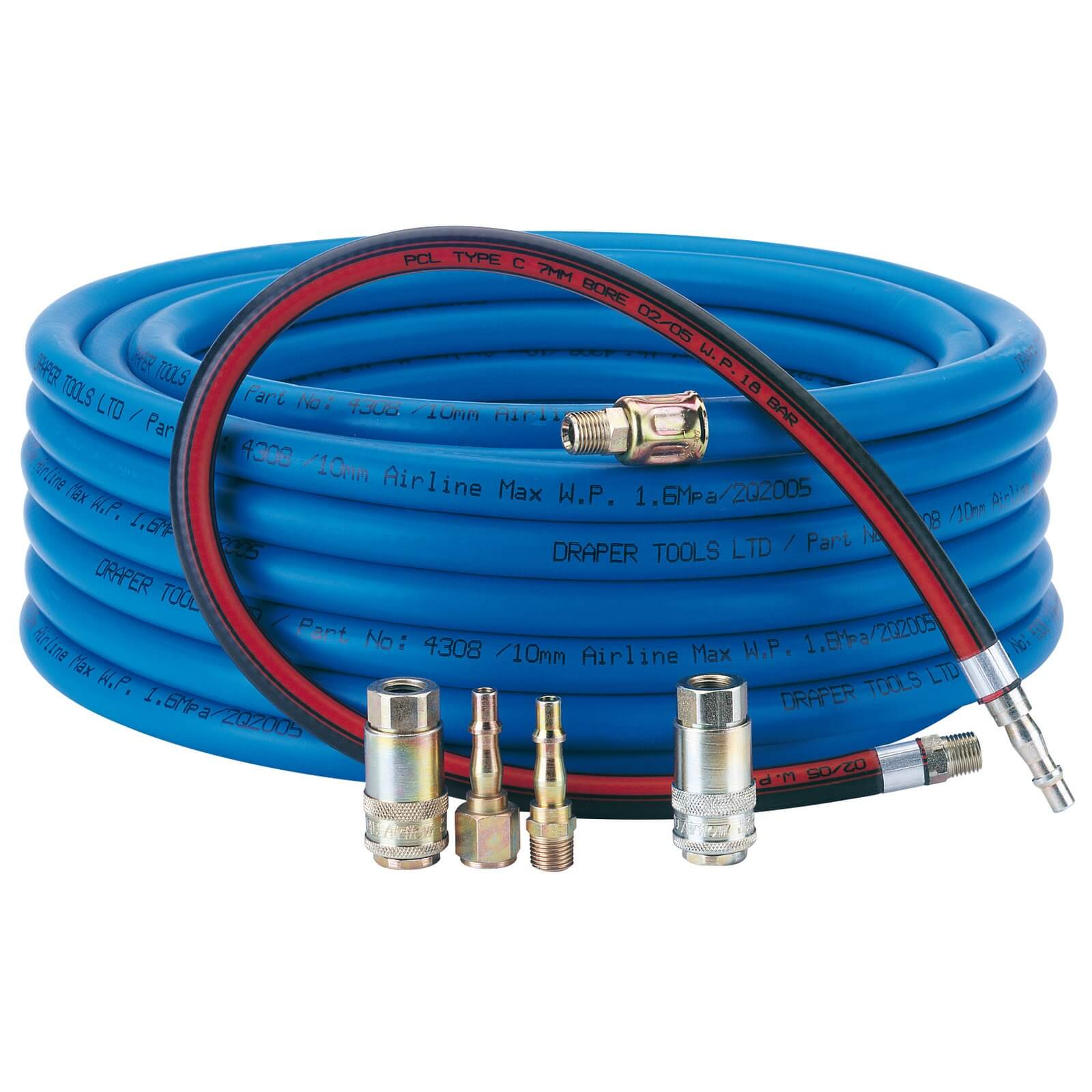Image of Draper Heavy Duty Airline & Connector Kit 15.2m 10mm