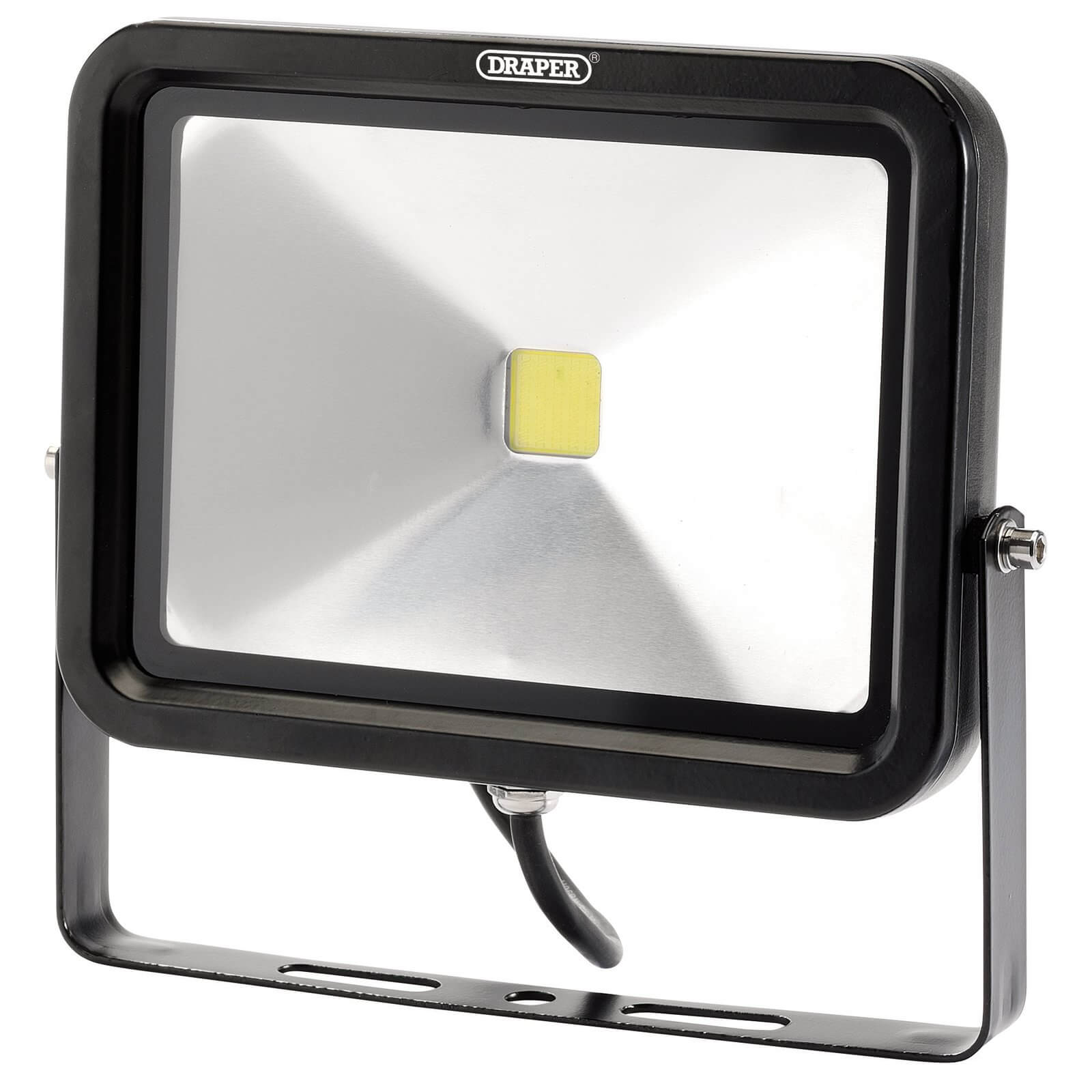 Image of Draper COB LED Slimeline Wall Mounted Floodlight 50 Watts