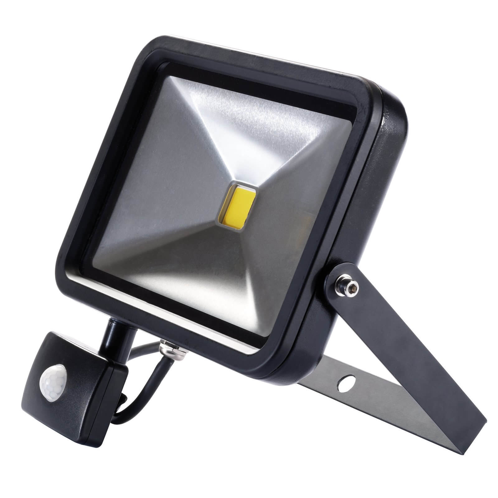 Image of Draper COB LED Slimeline Wall Mounted Floodlight With PIR 30 Watts