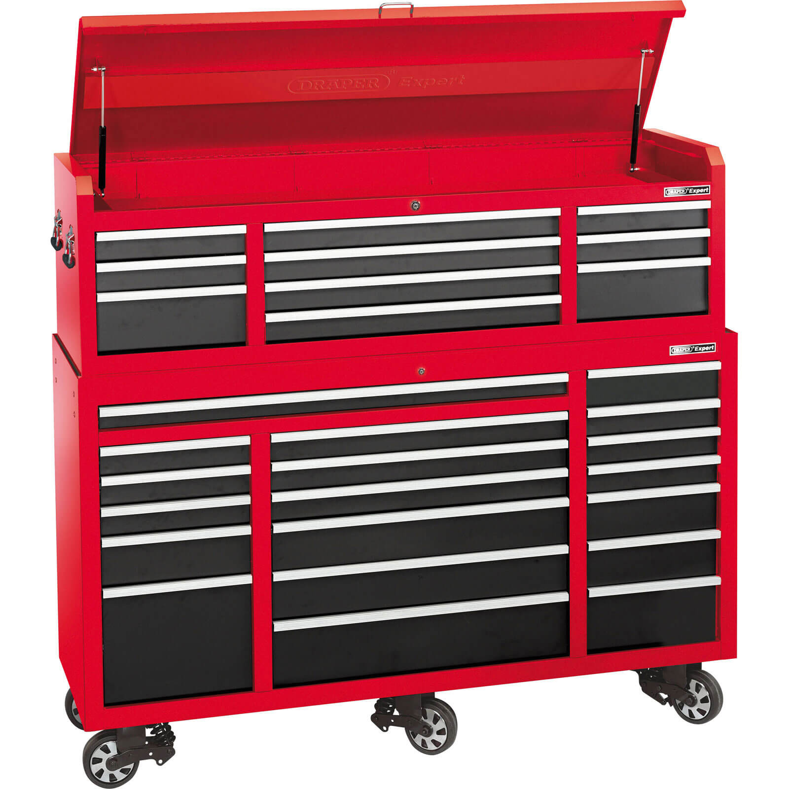 Draper Expert 29 Drawer Roller Cabinet & Tool Chest Combination Red