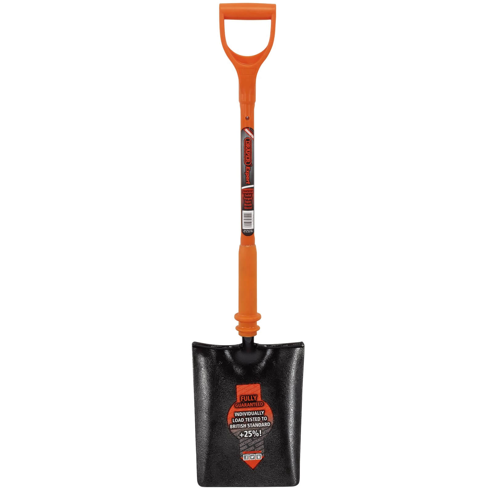 Click to view product details and reviews for Draper Expert Taper Mouth Shovel Fully Insulated Solid Forged.