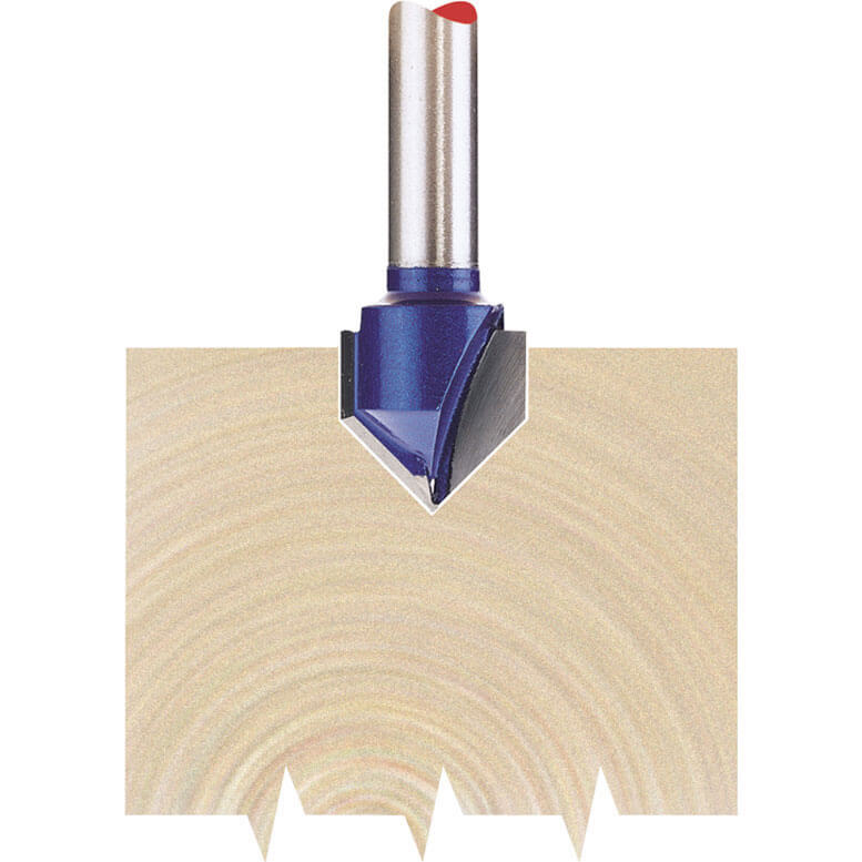 """Image of Draper V Groove Router Cutter 12.7mm 12.7mm 1/4"""""""