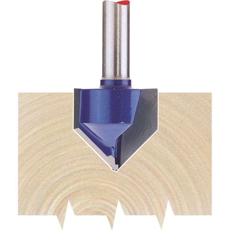 """Image of Draper V Groove Router Cutter 19mm 19mm 1/4"""""""