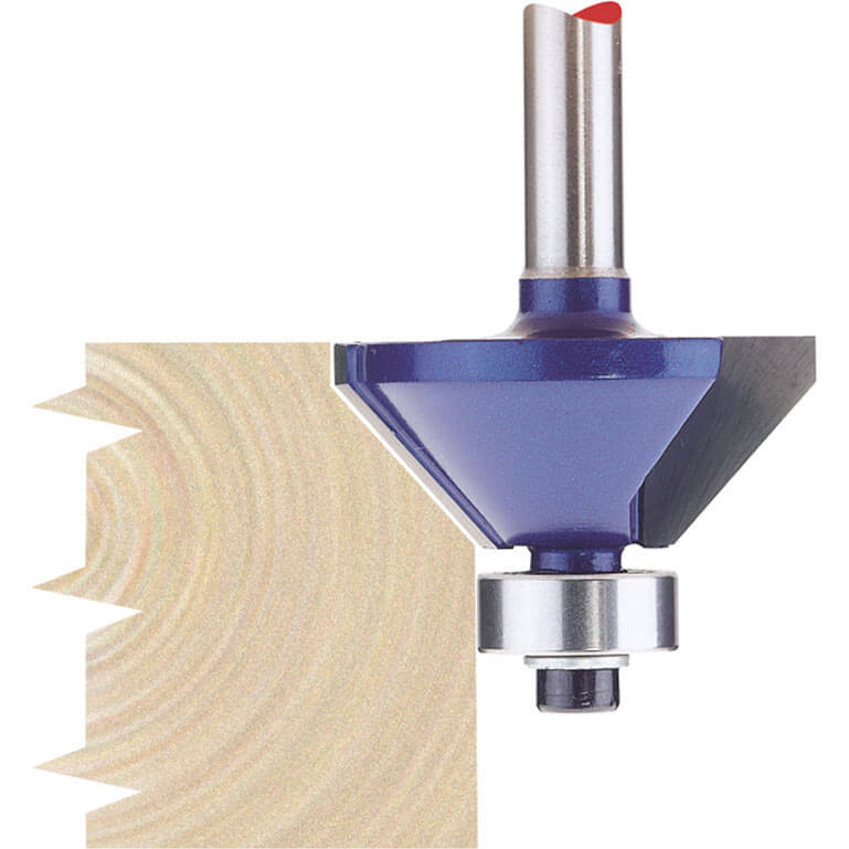 """Image of Draper Bearing Guided Chamferring Router Cutter 30mm 30mm 1/4"""""""