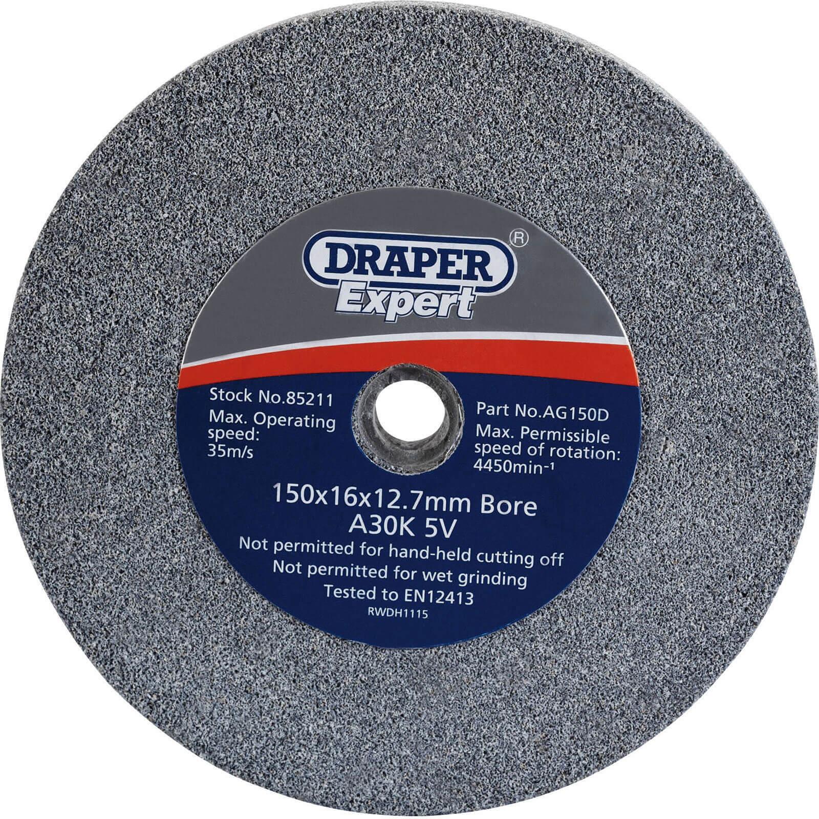 Image of Draper Expert Bench Grinding Wheel 150mm 16mm 36g
