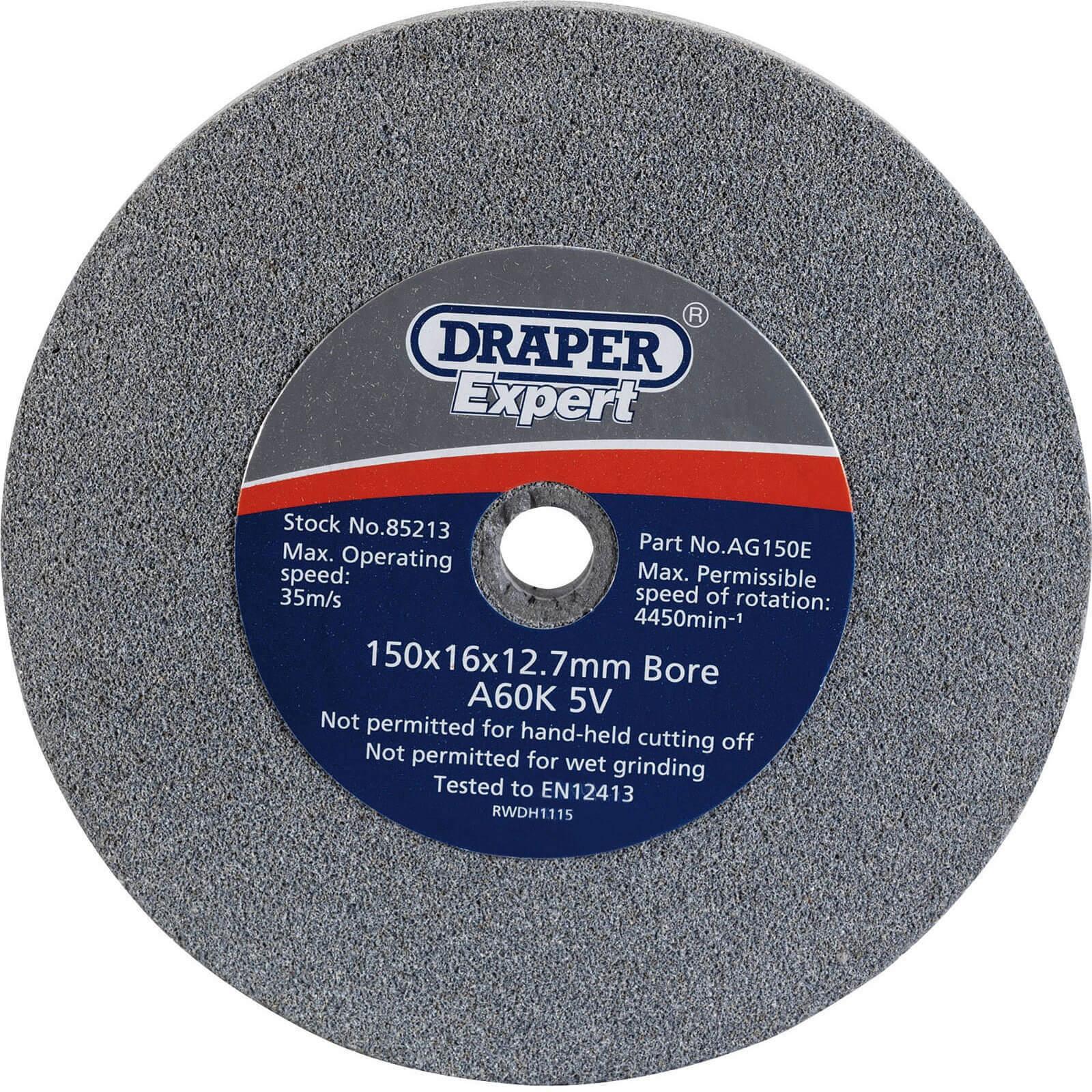 Image of Draper Expert Bench Grinding Wheel 150mm 16mm 60g