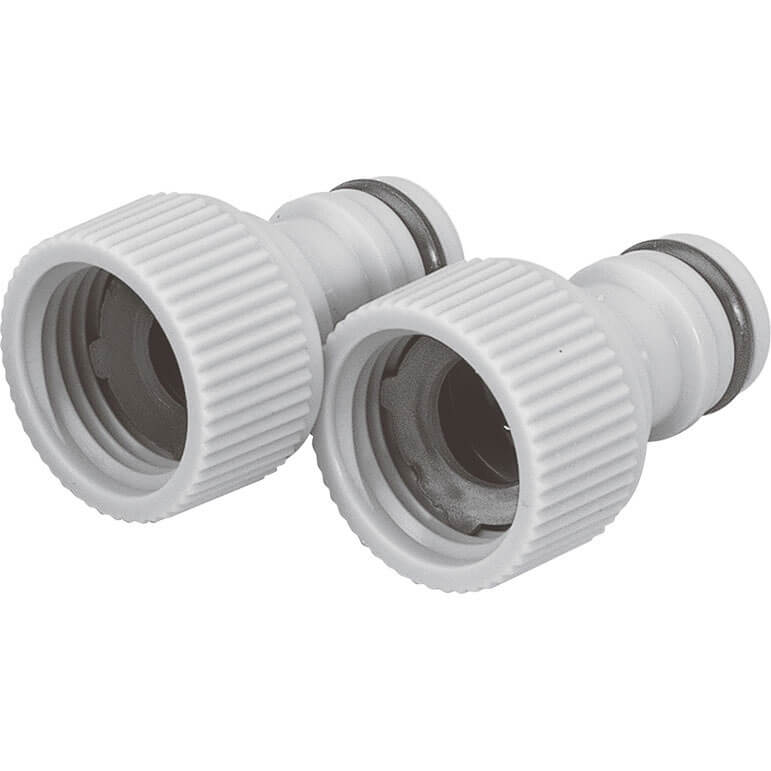 "Draper 1/2"" BSP Garden Hose Tap Connector 26.5mm"