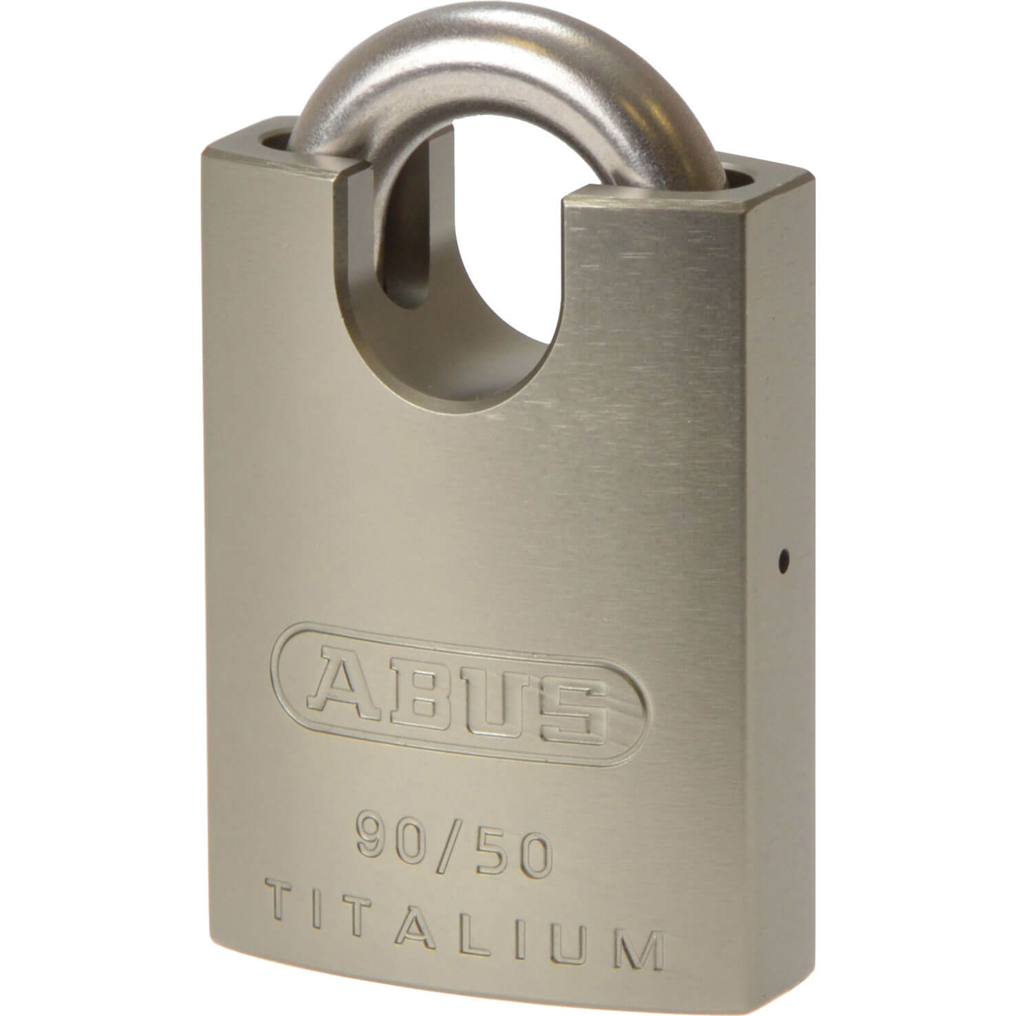 Image of Abus 90 Series Titalium Padlock Stainless Steel Closed Shackle 50mm Closed