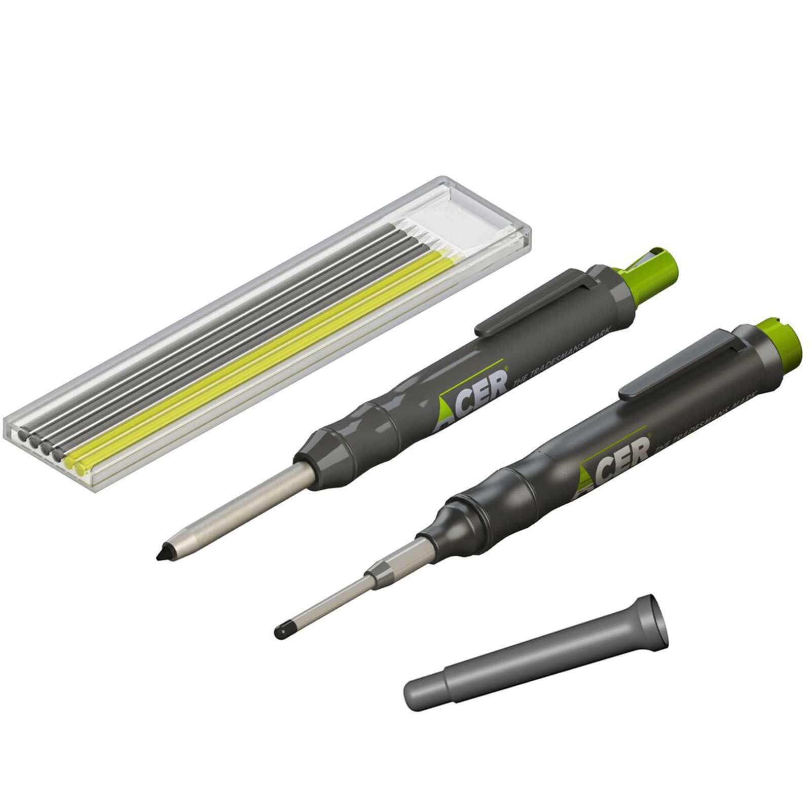 Image of Acer Marking Kit - Deep Hole Marker Pen, Pencil & Lead Set