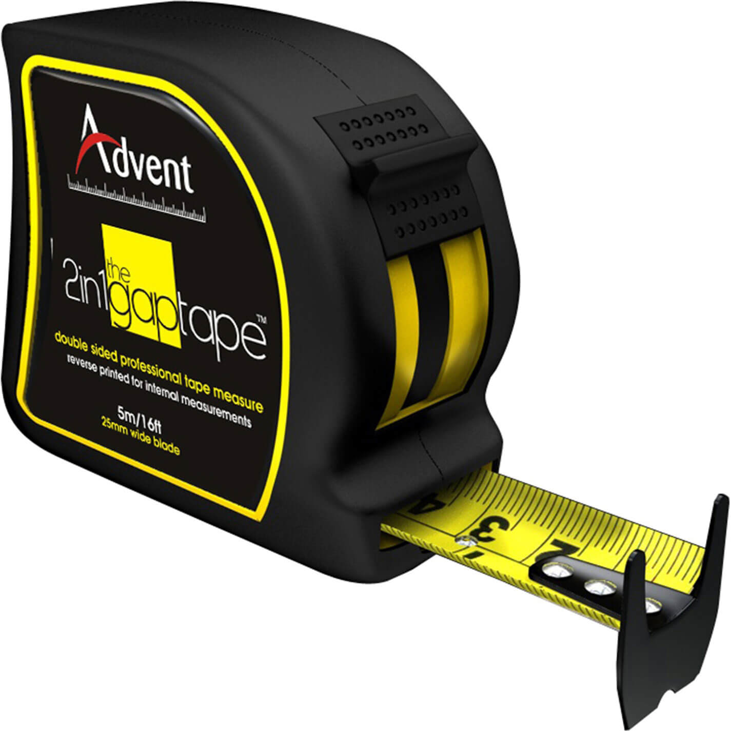 Image of Advent 2-In-1 Double Sided Gap Tape Measure Imperial & Metric 16ft / 5m 25mm