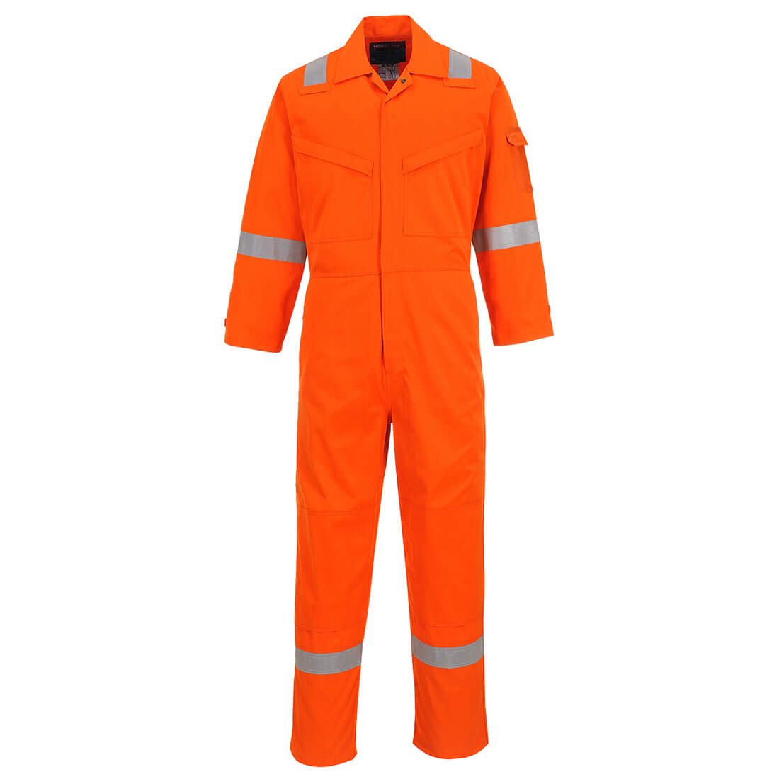 "Image of Araflame Mens Gold Flame Resistant Overall Orange 40"" 32"""