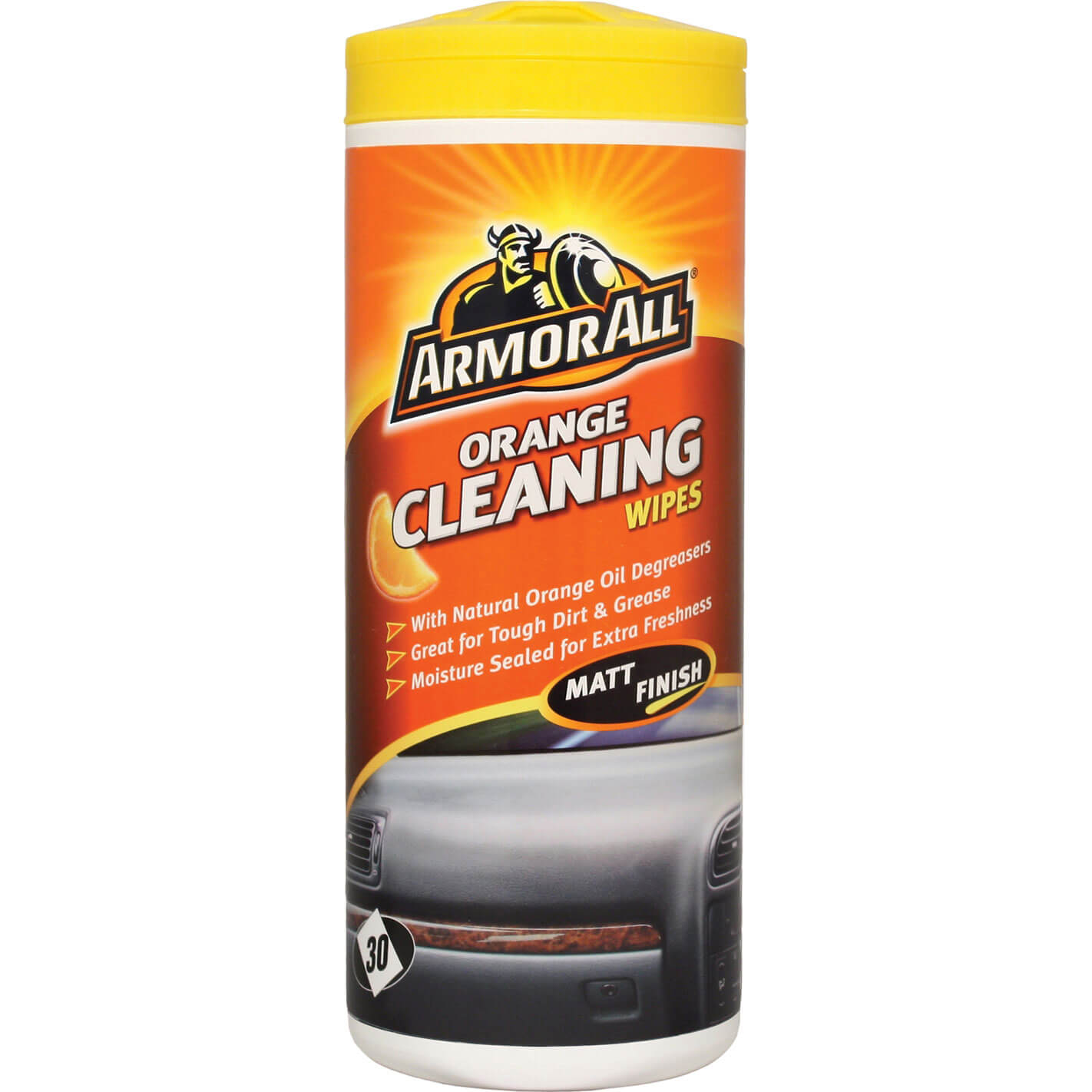 armorall orange interior car cleaning wipes pack of 30. Black Bedroom Furniture Sets. Home Design Ideas