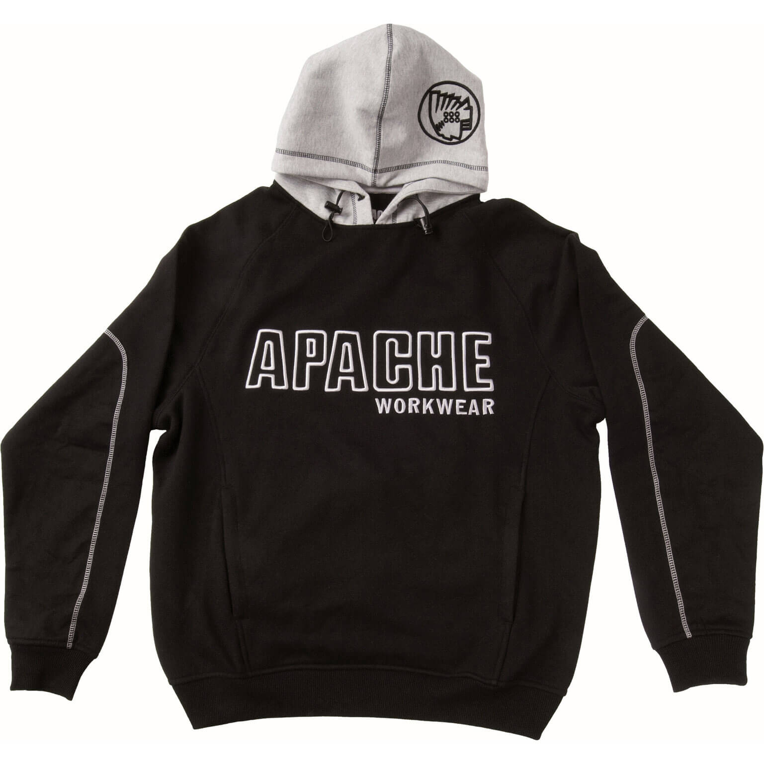 Image of Apache Mens Work Hoodie Black / Grey M