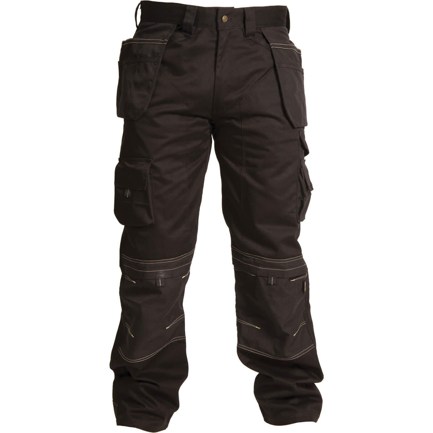"""Image of Apache Mens Holster Pocket Trousers Black 30"""" 29"""""""