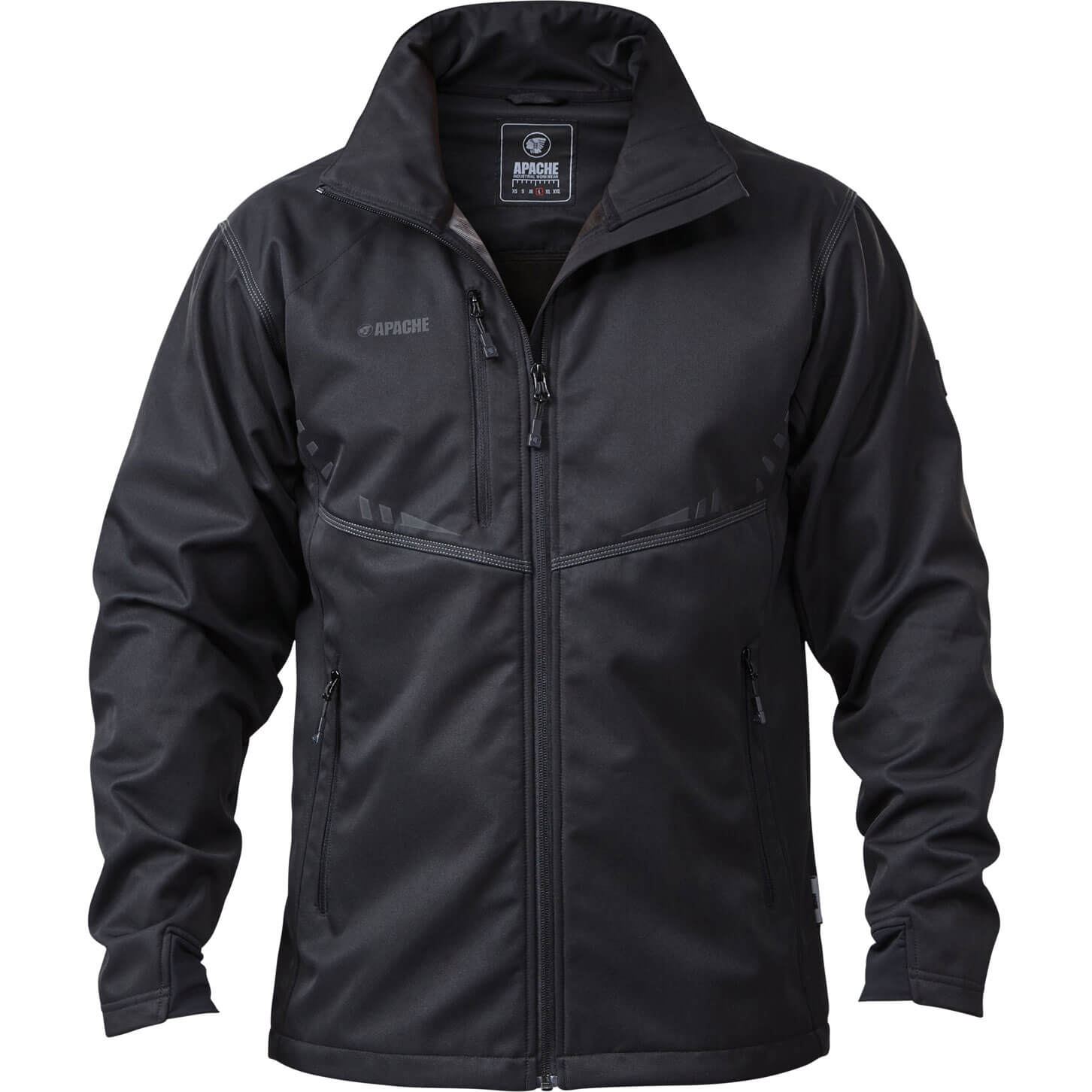 Image of Apache Mens ATS Lightweight Soft Shell Jacket Black XXL