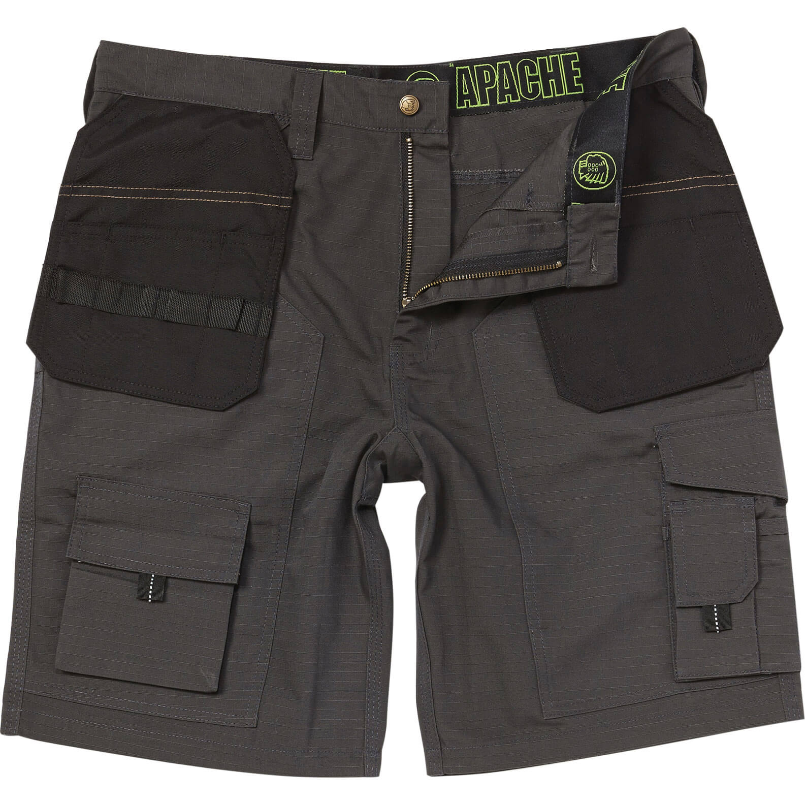 Image of Apache Rip Stop Holster Light Weight Work Shorts Grey 30""
