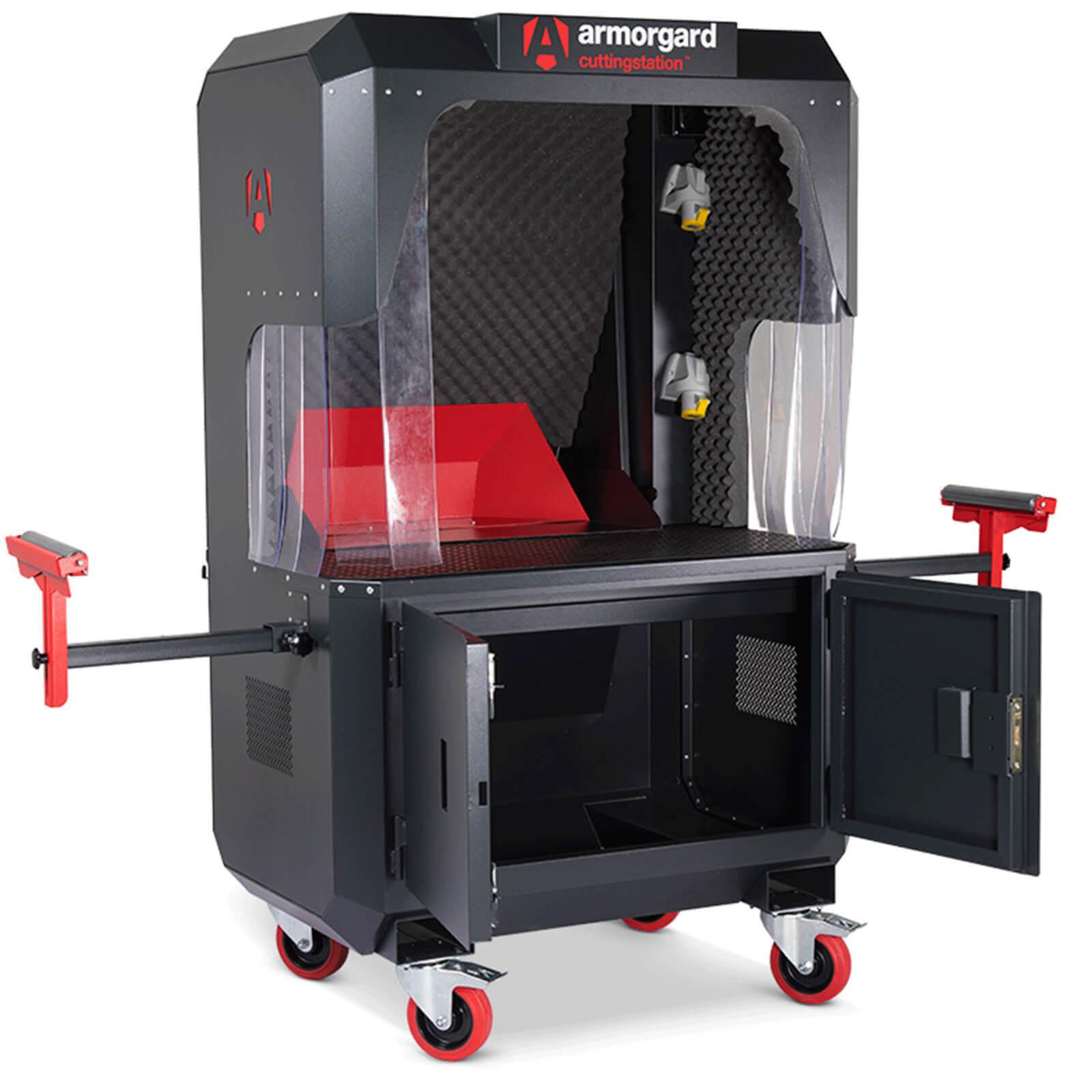 Image of Armorgard Cuttingstation Chopsaw Workstation 1.4m