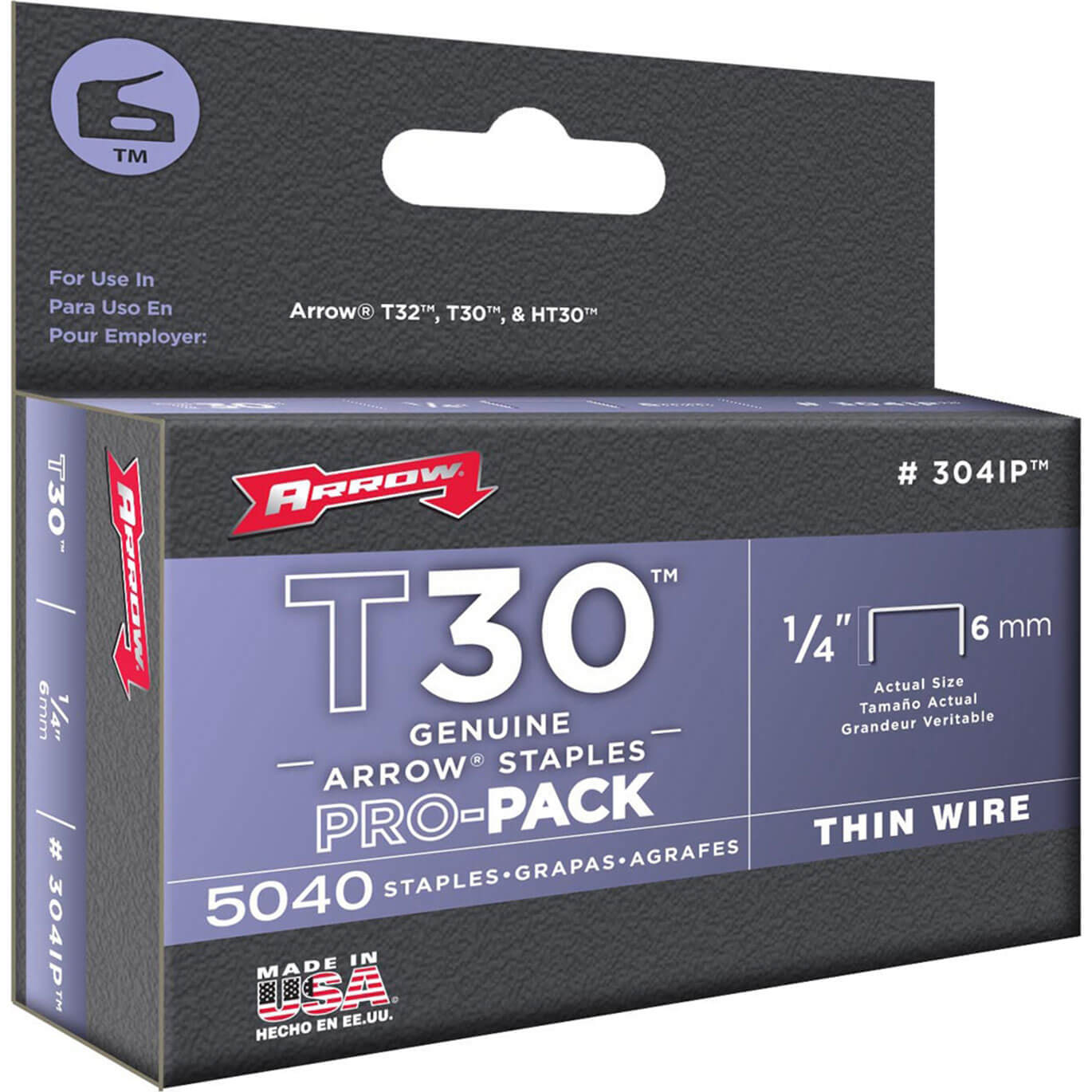 Arrow T30 Staples 6mm Pack of 5000