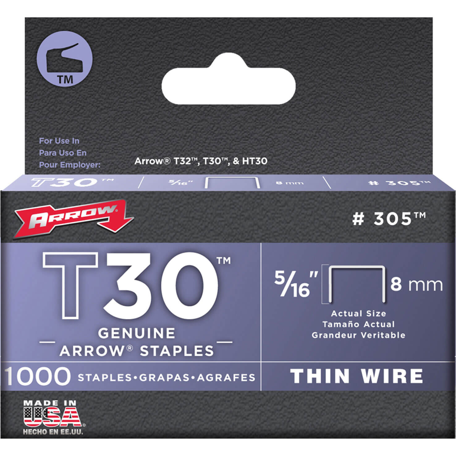 Arrow T30 Staples 8mm Pack of 5000