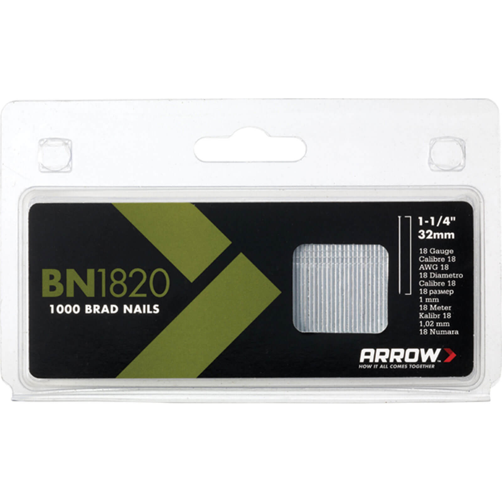 Image of Arrow 18 Gauge Brad Nails 20mm Pack of 1000