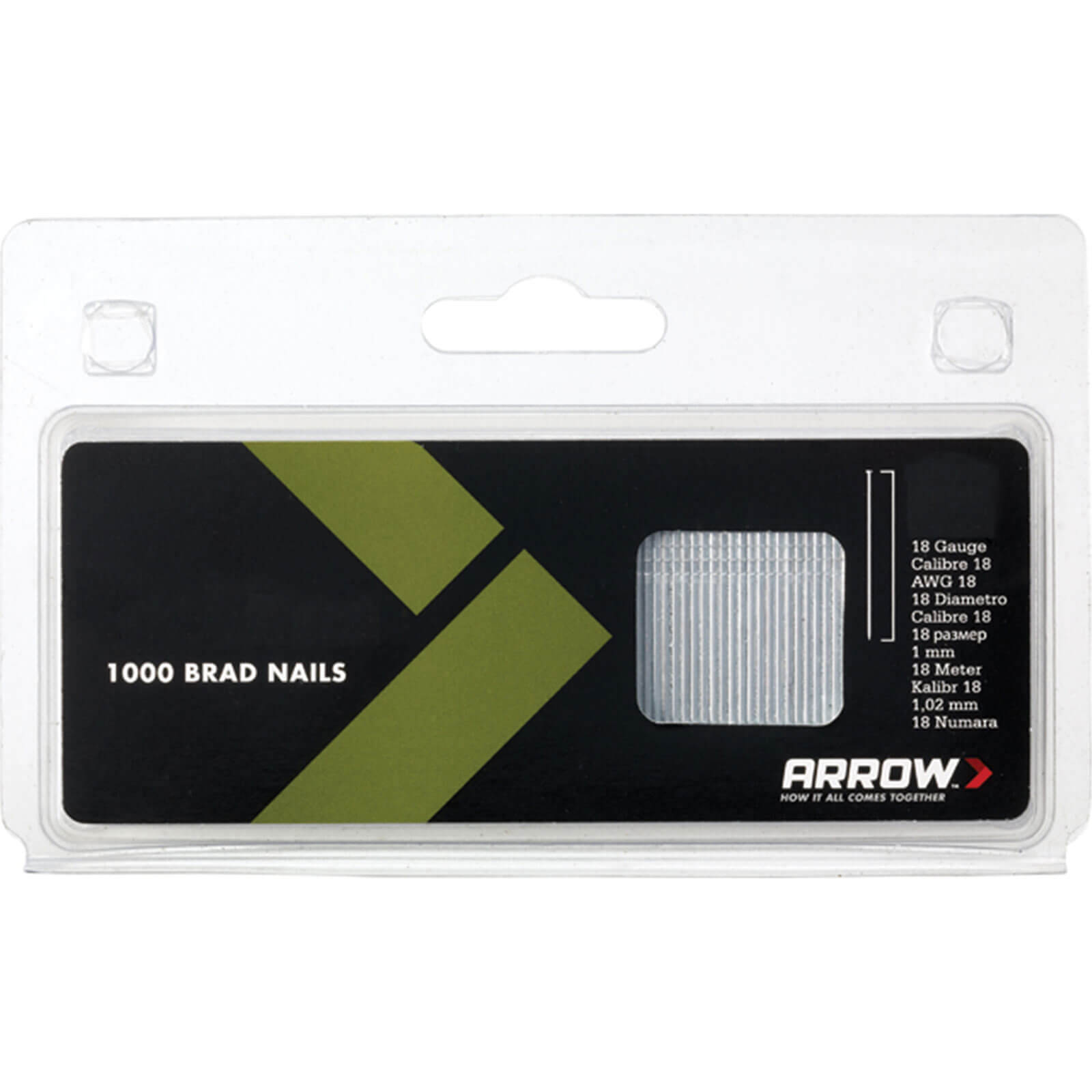 Image of Arrow 18 Gauge Brad Nails 50mm Pack of 1000