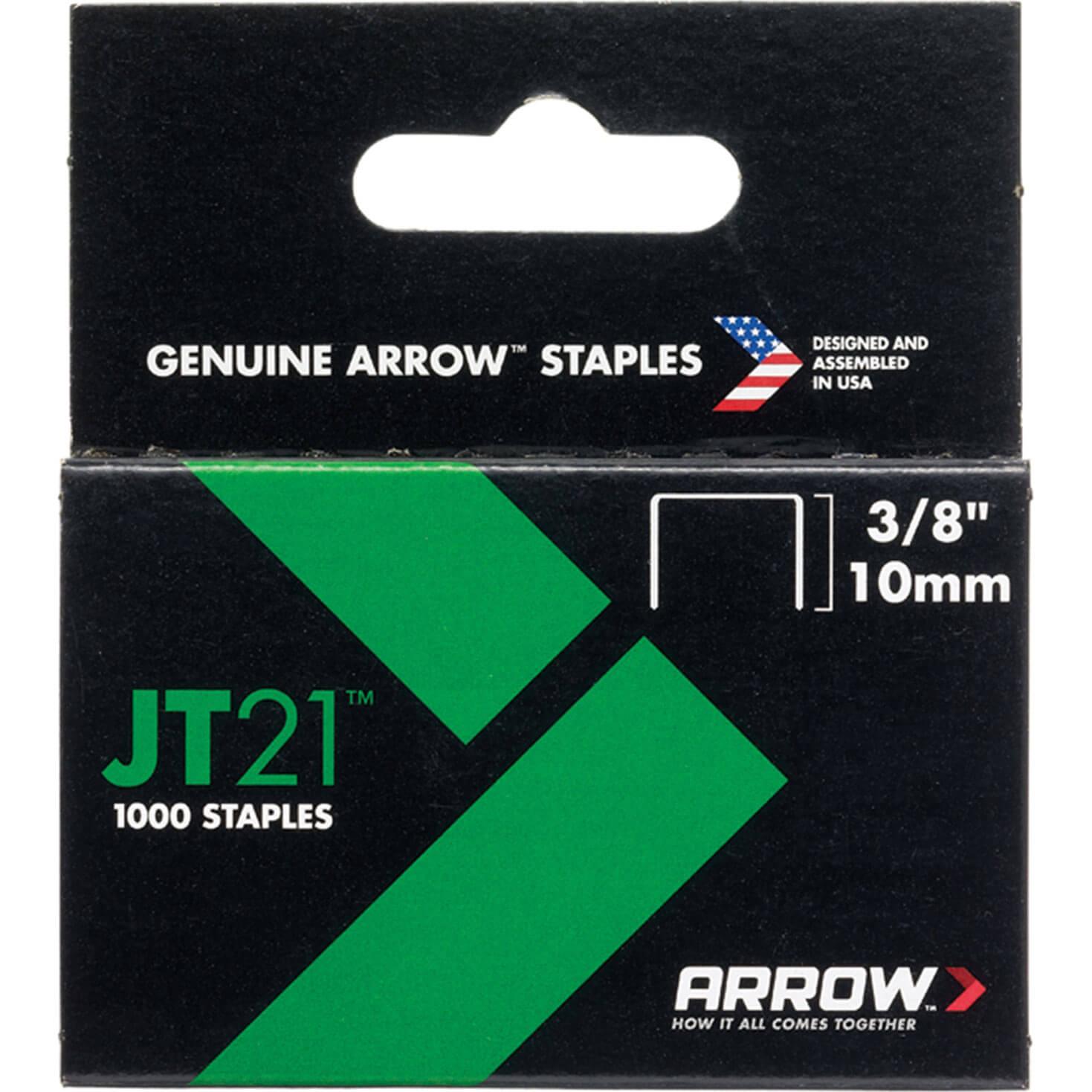Arrow Staples for JT21 / T27 Staple Guns 10mm Pack of 1000