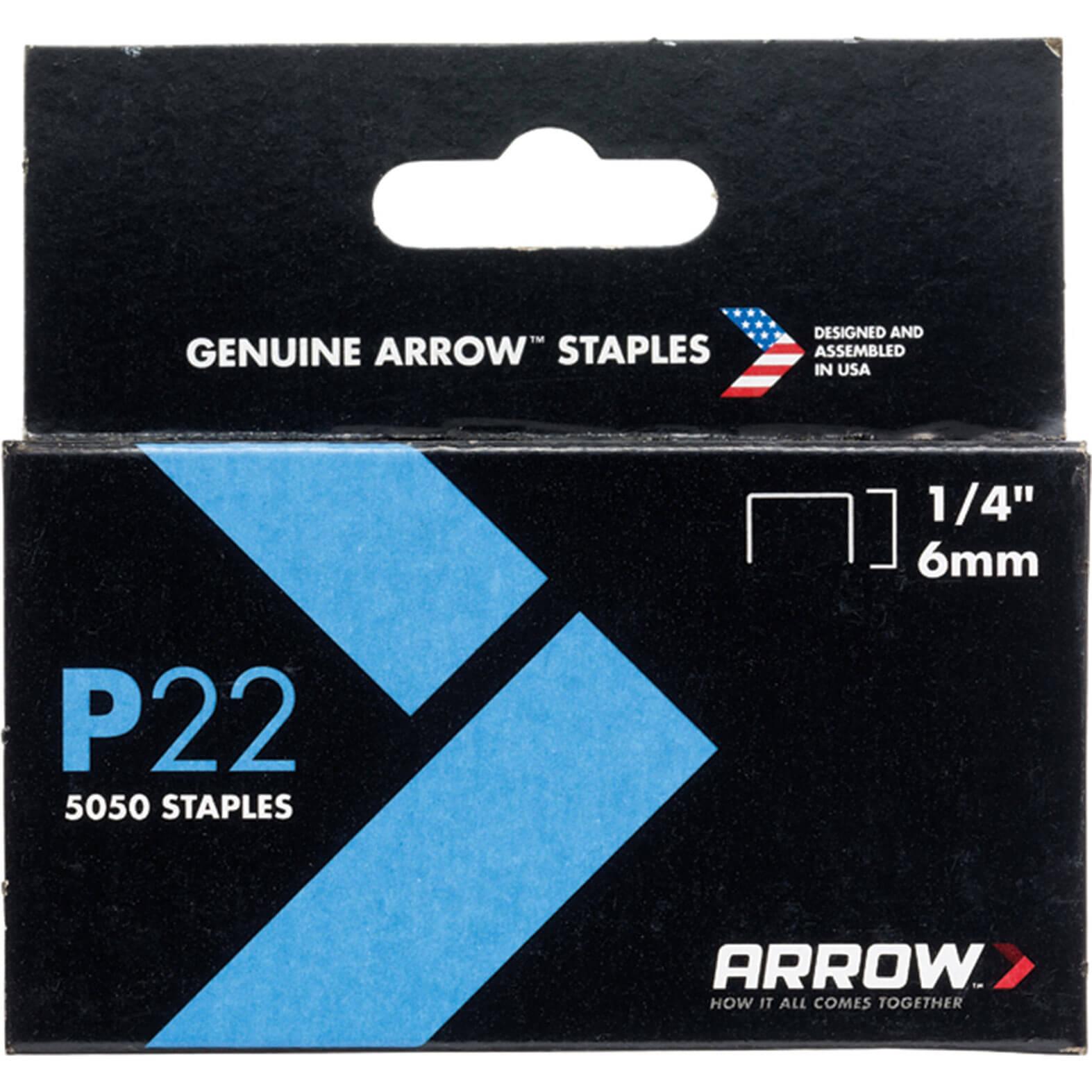 Arrow P22 Staples 6mm Pack of 5000