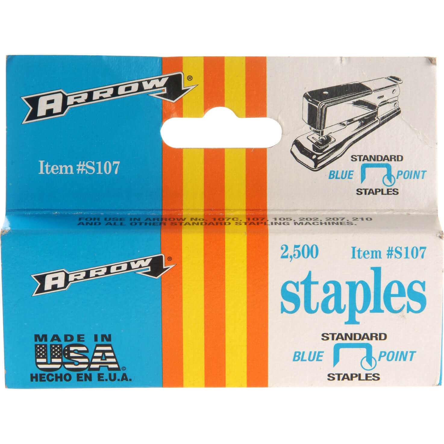 Arrow S107 Staples 12mm Pack of 2500