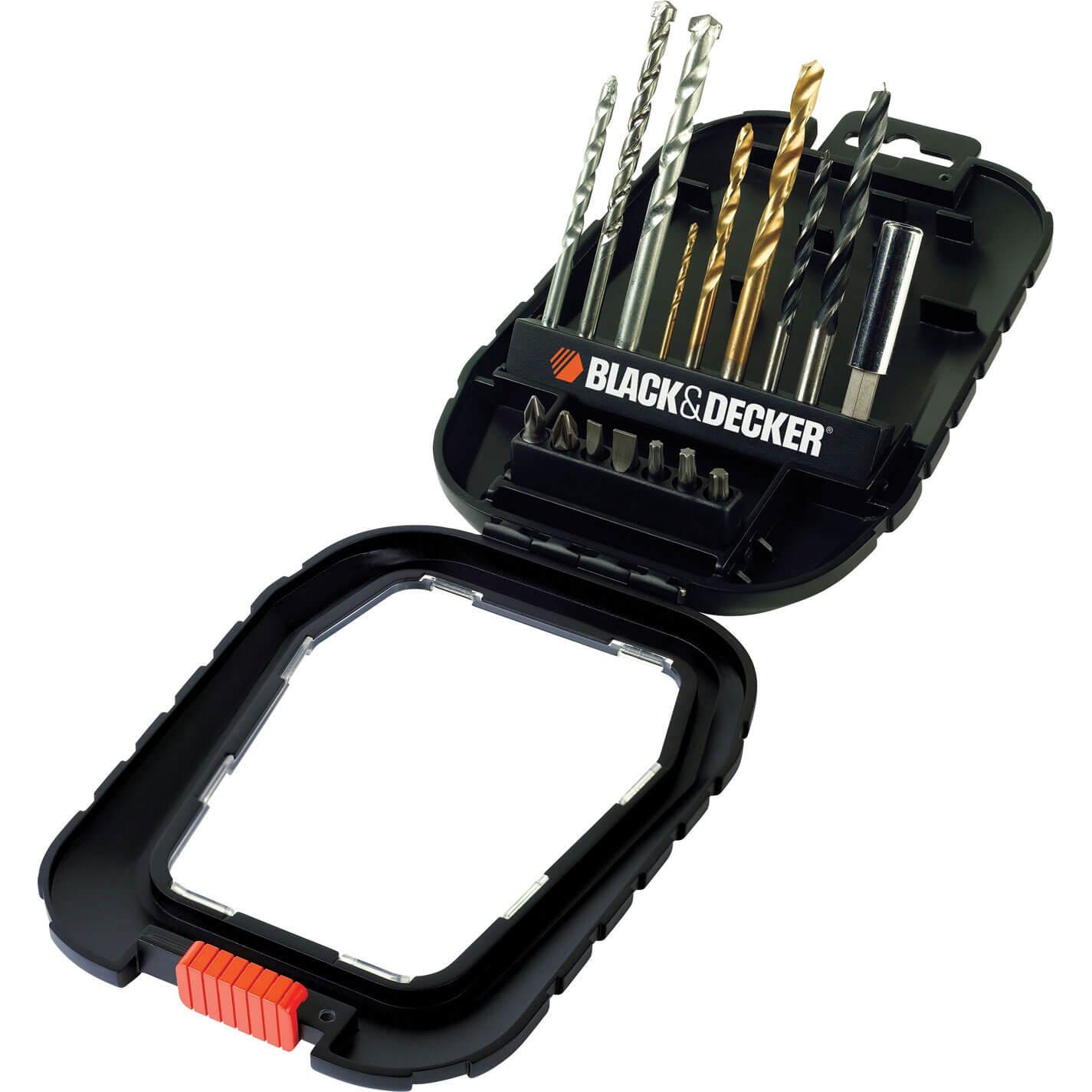 Image of Black & Decker A7186 16 Piece Drill & Screwdriver Bit Set