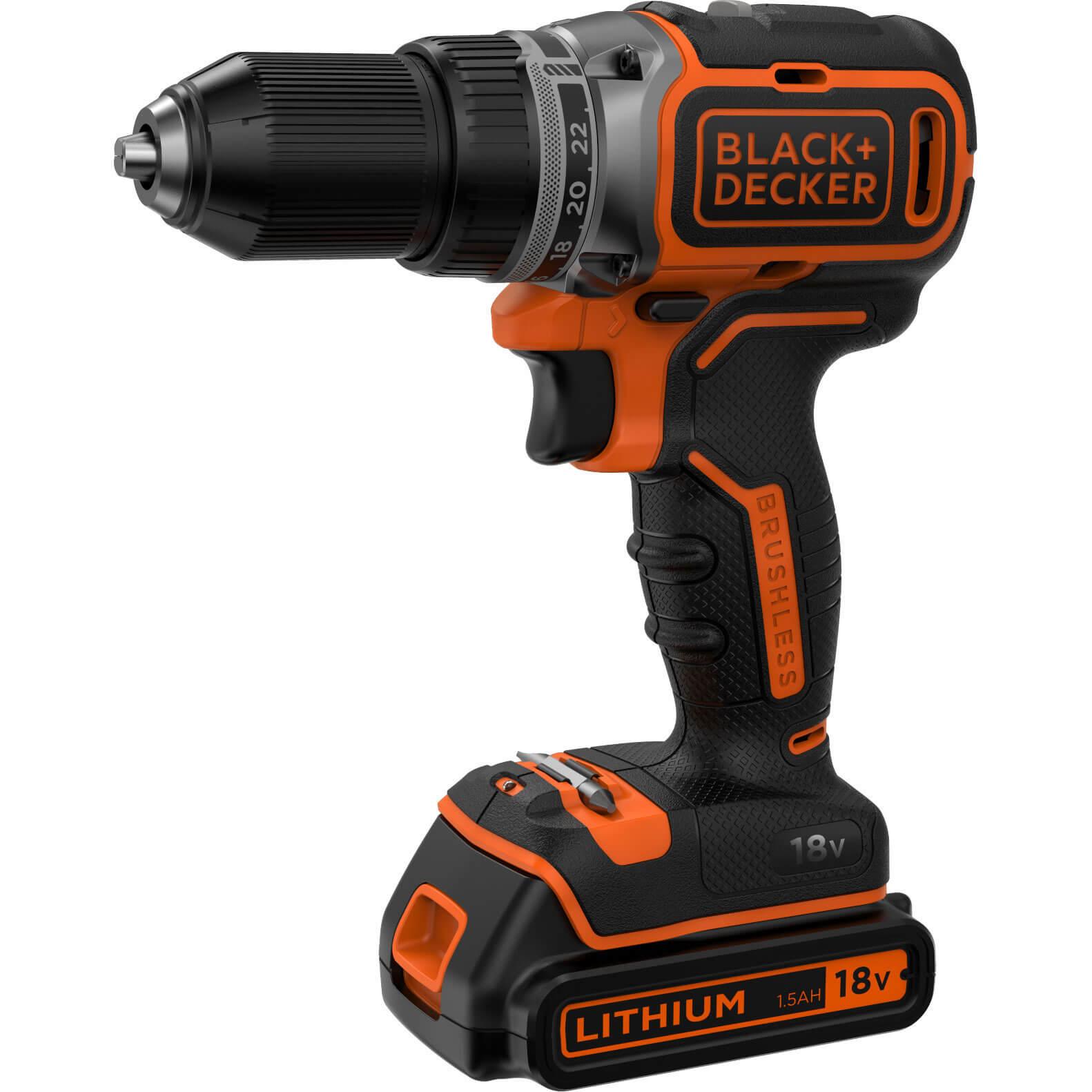 Black & Decker BL186 18v Cordless Drill Driver 1 x 1.5ah Liion Charger No Case