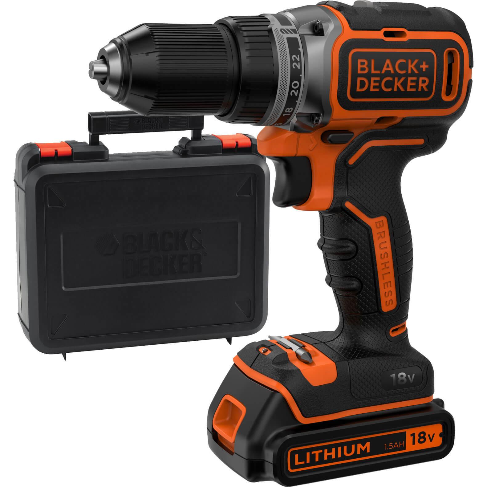 Black & Decker BL186 18v Cordless Drill Driver 1 x 1.5ah Liion Charger Case