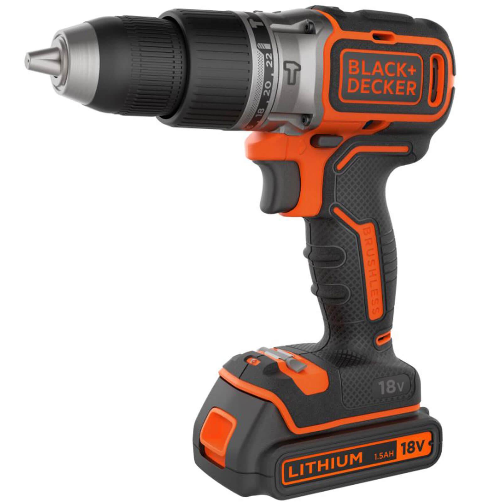 Black & Decker BL188 18v Cordless Combi Drill 1 x 1.5ah Liion Charger No Case