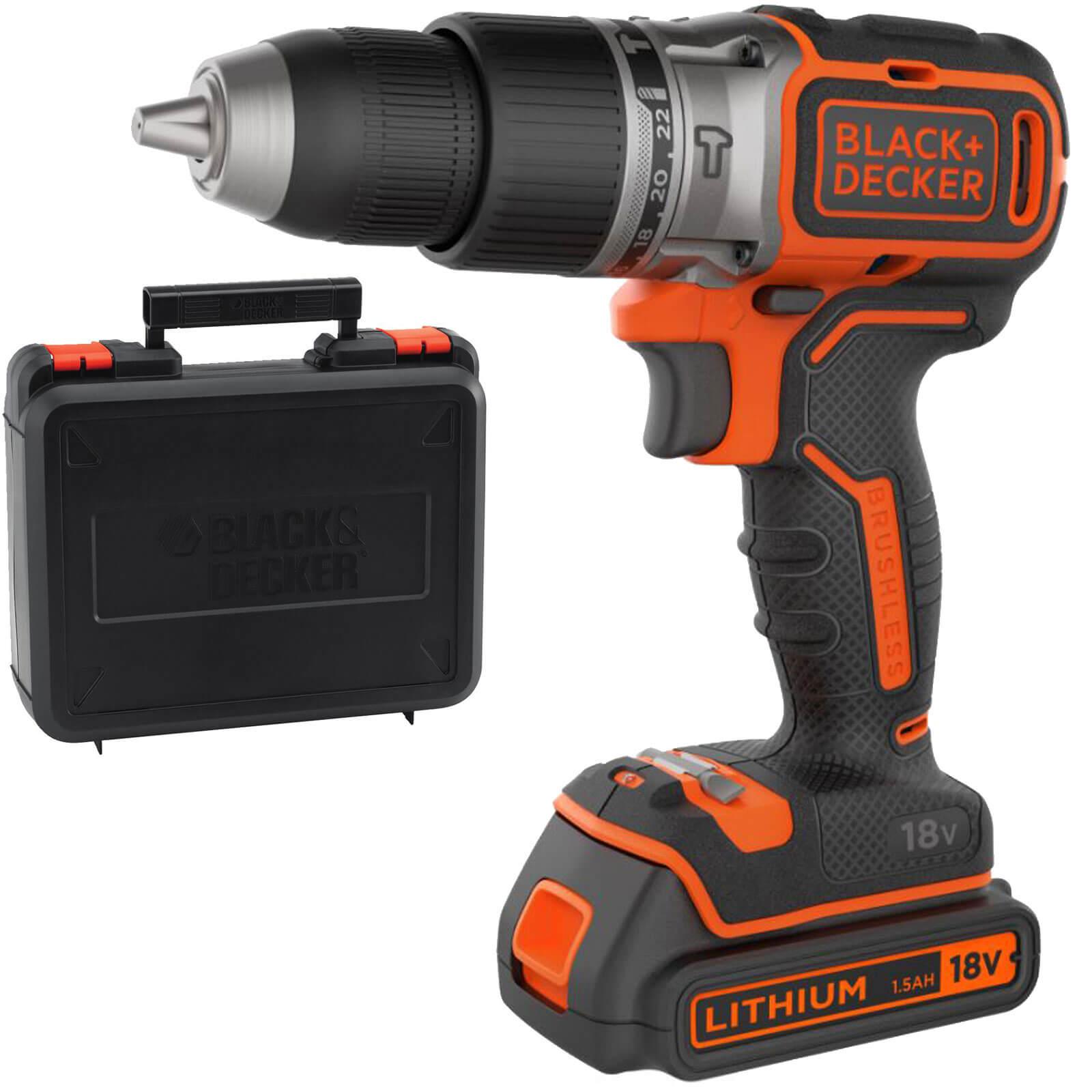 Black & Decker BL188 18v Cordless Combi Drill 1 x 1.5ah Liion Charger Case