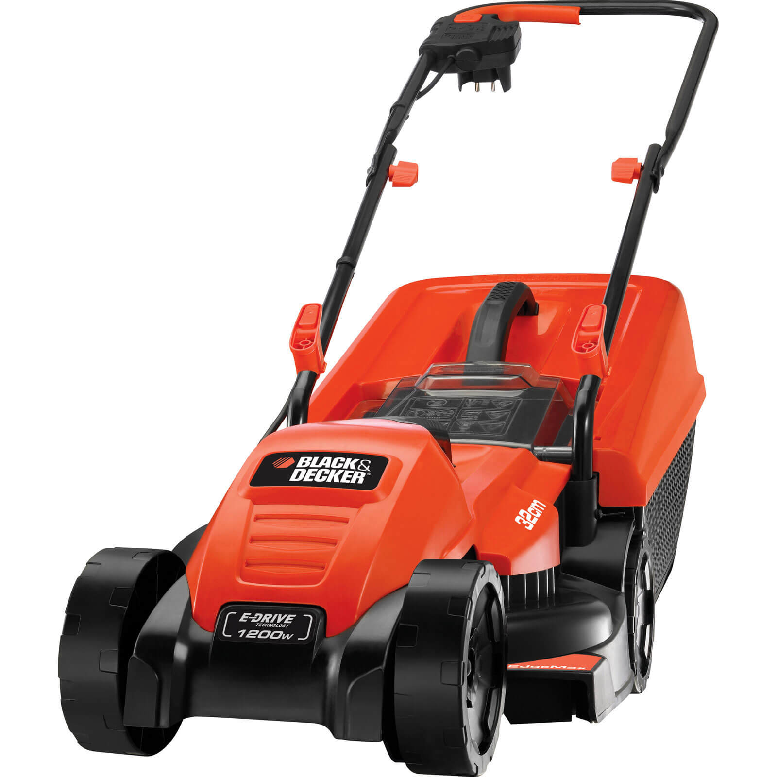 Image of Black & Decker EMAX32S Rotary Lawnmower 320mm 240v