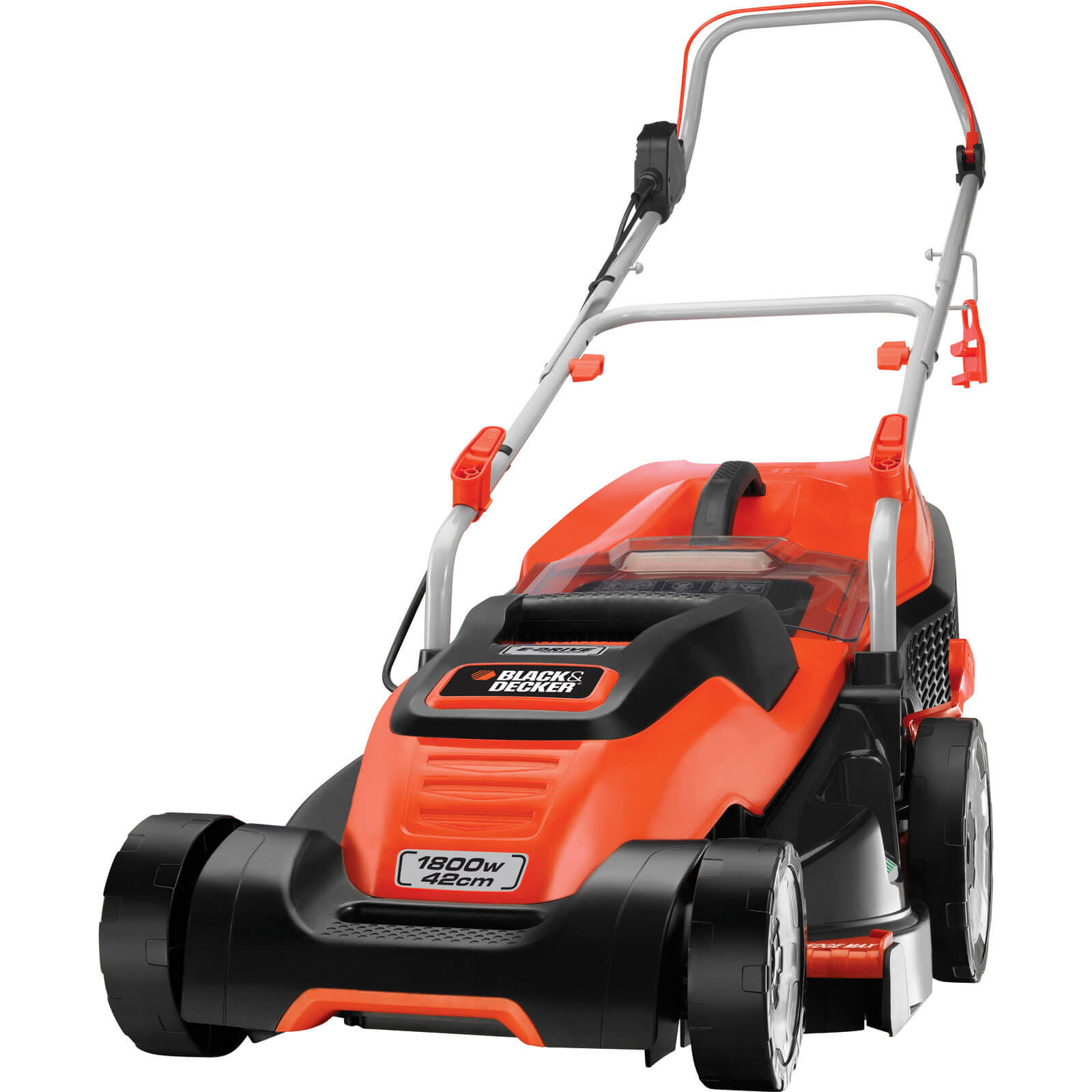 Image of Black & Decker EMAX42i Compact & Go Rotary Lawnmower 420mm 240v