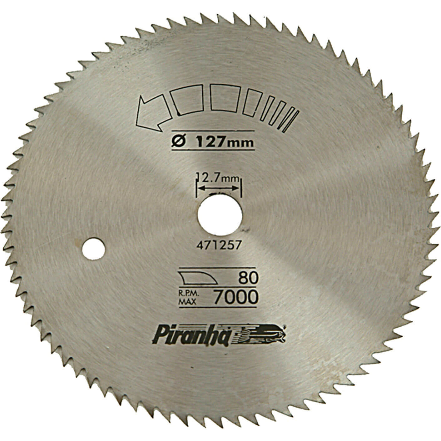 Black & Decker Piranha Circular Saw Blade 127mm 80T 12.7mm